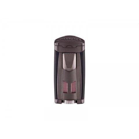 Xikar HP3 Dark Silver szivar öngyújtó 3-as szúró lánggal nagy méretű szivarokhoz - sötét szürke