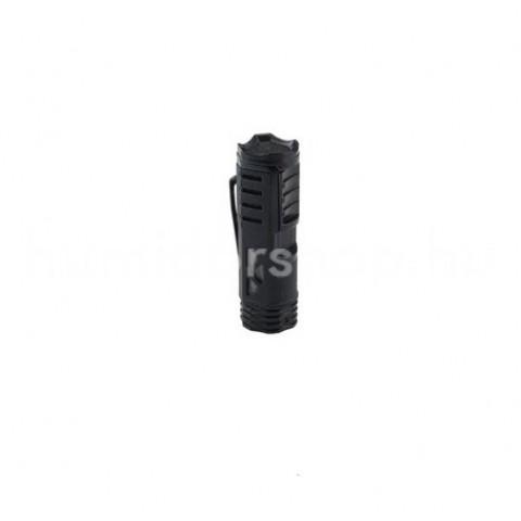 XIKAR Tactical 1 Black szúrólángos szivargyújtó övcsipesszel - matt fekete
