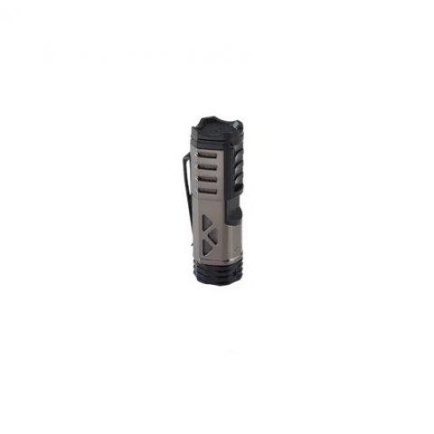 XIKAR Tactical 1 Gunmetal/Black szúrólángos szivaröngyújtó övcsipesszel - szürke/fekete