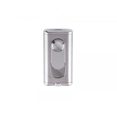 Xikar Verano Flat Flame Silver dupla szúrólángos szivargyújtó - ezüst