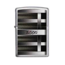 Benzines Zippo öngyújtó  -  csíkos mintás, Zippo logoval