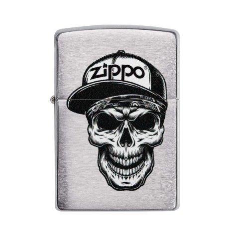 Benzines Zippo öngyújtó  -  Skull in Cap