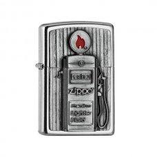 Benzines Zippo öngyújtó  -  Gas Pump 3D embléma