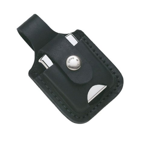 Zippo öngyújtó tartó bőr táska - fekete