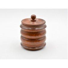 Pipadohány tartó, polírozott barna - szezámfa
