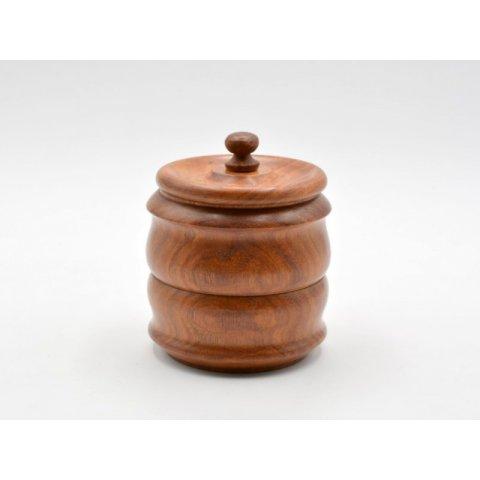 Pipadohány tartó, barna szezámfa - 14cm