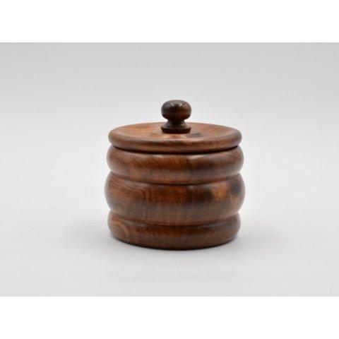 Szezámfa pipa dohánytartó, 100 gramm dohánynak - 11cm