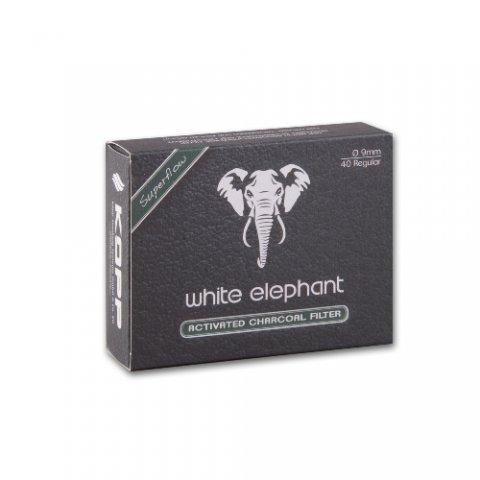 Pipafilter White Elephant Superflow aktívszén szűrő, 9mm - 40db
