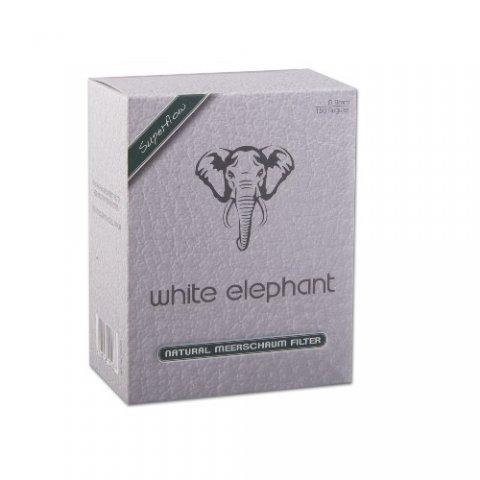 Pipafilter White Elephant Superflow tajtékkővel töltött, 9mm - 150db