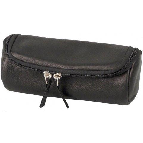 Minőségi pipa táska 2 pipa részére fekete színű, eredeti bőr