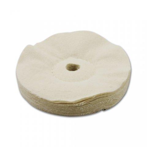 Pipa polírozó pamutszövet korong 15 cm átmérővel - krém színű