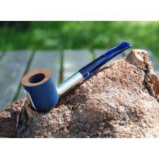 Big Ben Mavyn Blue bruyer pipa, polírozott alumínium szárral, 9mm filteres