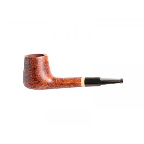 Chacom Gentleman 1822, barna színű hanga gyökér pipa egyenes ebonit szárral - zsebpipa