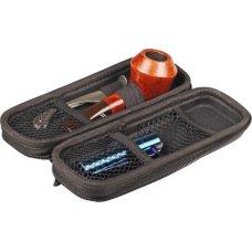 Fratelli Croci pipás szett, kéményfedelű pipa táskával Clipper öngyújtóval és egy 3 részes pipa tömködövel