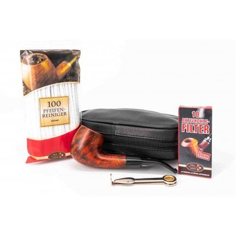 Humidorshop kezdő pipás szett - Lorenzo Manola 601-1 pipa, táskával és kiegészítőkkel