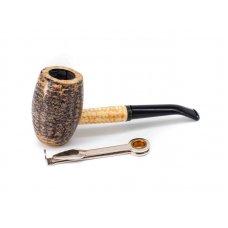 Missouri Meerschaum Country Gentleman kukorica pipa hajlított szárral és 6mm filterrel - bent