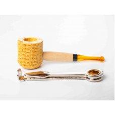 Missouri Meerschaum Corn Cob Mini kukorica pipa filter nélkül - sárga szopókával