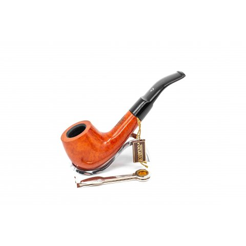 Lorenzo Amena Spumante 603 bruyer gyökér pipa polirozott barna szinü 9mm filter, enyhén hajlitott nyerges szopokával