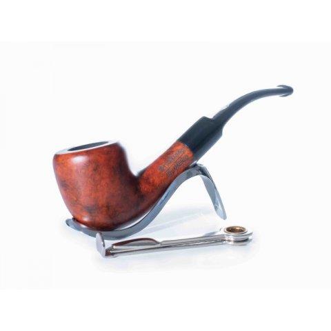 Lorenzo Manola 601-3 bruyer gyökér pipa vöröses barna színű 9mm filter, enyhén hajlított nyerges szopokával