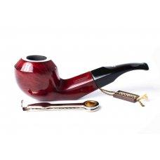 Lorenzo Riccardo 70 Chianti Red Bruyer gyökér pipa bordó színű 9mm filter, enyhén hajlított nyerges akril szopókával