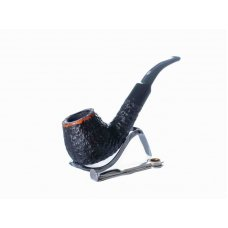 Lorenzo Viva Pal Nero RR fekete színű rusztikolt hanga gyökér pipa, 9mm filter, hajlított nyerges szopokával