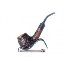 Lorenzo Viva Pal RR világos barna és fekete színű rusztikolt pipa, 9mm filter, hajlított nyerges szopokával