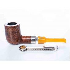 Mastro de Paya Ciocco D06 pipa, hanga gyökérből egyenes szárral, 9mm filteres - billiard