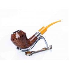 Mastro de Paya Ciocco D07 barna színű, bruyere gyökér pipa közepes kazán méret, 9mm-es filterrel - bulldog