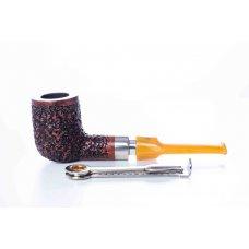 Mastro de Paya Ciocco R06 rusztikolt egyenes szárú pipa, hanga gyökérből 9mm filteres - billiard