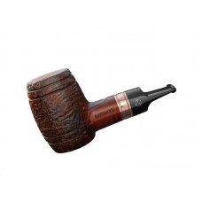 Rattray s Devils Cut Sandblast bruyer gyökér pipa, whiskyes hordó formájú homokfúvott 9mm filterrel - réz gyűrűvel