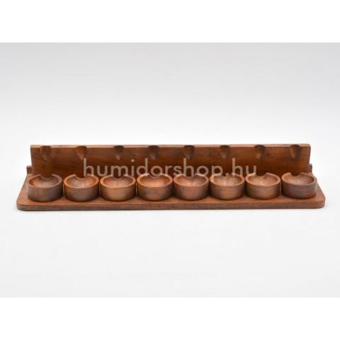 Szezámfa pipa tartó 8 pipa számára - téglalap alakú
