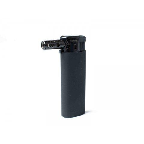 Atomic Black Line újratölthető, jet lángos pipa öngyújtó, oldalsó lánggal - Fekete