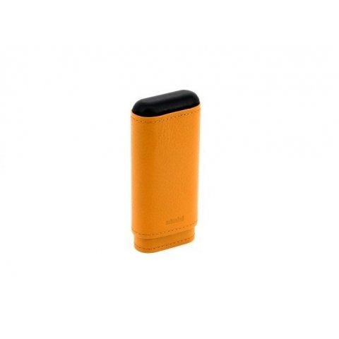 Valódi bőr Adorini Crocus Orange szivartok 2-3 szál szivar számára - narancssárga