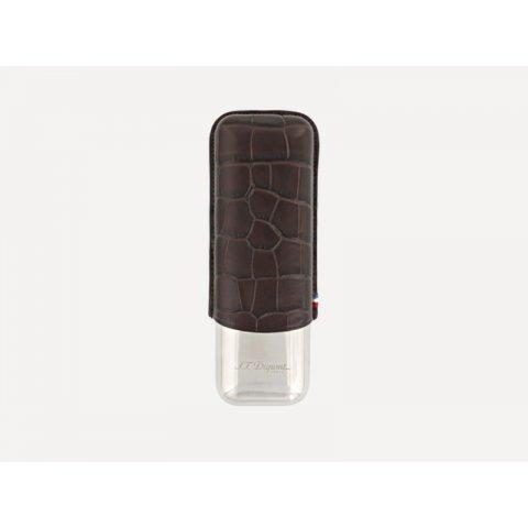 Szivartok S.T. Dupont Croco Dandy barna 2 szivar részére - Kroko mintás