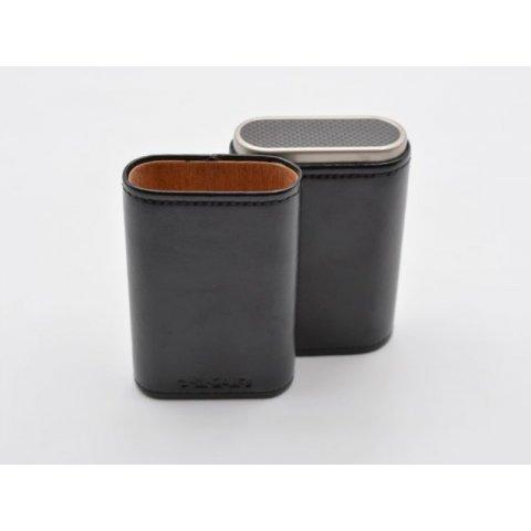 Xikar Envoy fekete szivartok minőségi bőrből, 3 szivar részére - Carbon Fiber
