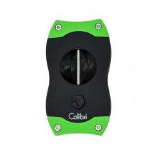 Colibri V-Cut Green, nemesacél pengéjü ék szivarvágó 23mm - zöld