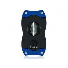 Colibri V-Cut Blue, nemesacél pengéjü ék szivarvágó 23mm - kék