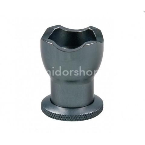 Passatore szivar tartó és szivarfúró eloxált alumíniumból - sötétszürke