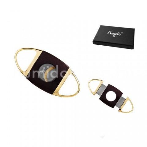 Elegáns Angelo dupla pengés szivarvágó 25mm átmérőjű szivarokhoz - fekete/arany