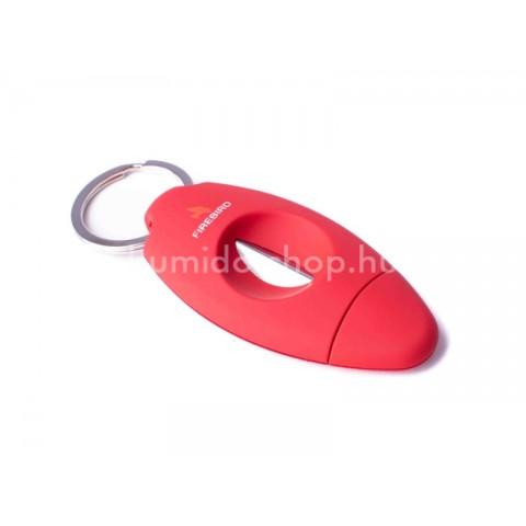 Firebird Viper kulcsra akasztható 23mm-es ék szivarvágó - piros