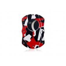 Colibri Camo Red pillangó szivarvágó, piros színű terepmintás, tapadás mentes nemesacél pengével - 25mm