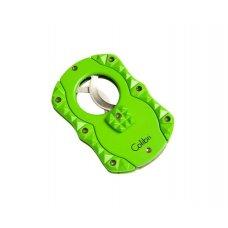 Colibri Quasar Green - Skeleton Blades szivar vágó, dupla pengével, 25mm - zöld