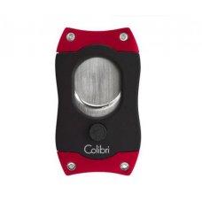 Colibri S-Cut Red, nemesacél pengéjü guillotine szivarvágó 26mm - piros