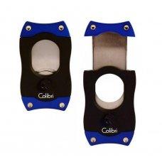 Colibri S-Cut Blue, nemesacél pengéjü guillotine szivarvágó 26mm - kék