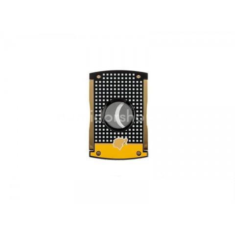 Limitált kiadású S.T. Dupont MaxiJet szivarvágó sárga fekete lakozott - Cohiba Edition