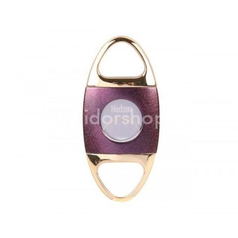 Hadson dupla pengés szivar vágó Purple 22mm átmérőjű szivarokhoz - lila/arany