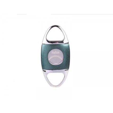 Hadson dupla pengés szivar vágó Green 22mm átmérőjű szivarokhoz - króm/zöld