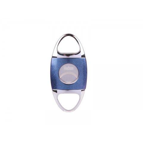 Hadson dupla pengés szivar vágó Blue 22mm átmérőjű szivarokhoz - króm/kék