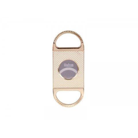 Hadson dupla pengés szivar vágó, 23mm átmérőjű szivarokhoz - arany