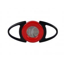 Hadson dupla pengés szivar vágó matt fekete/piros - maximum 25mm vágási átmérővel